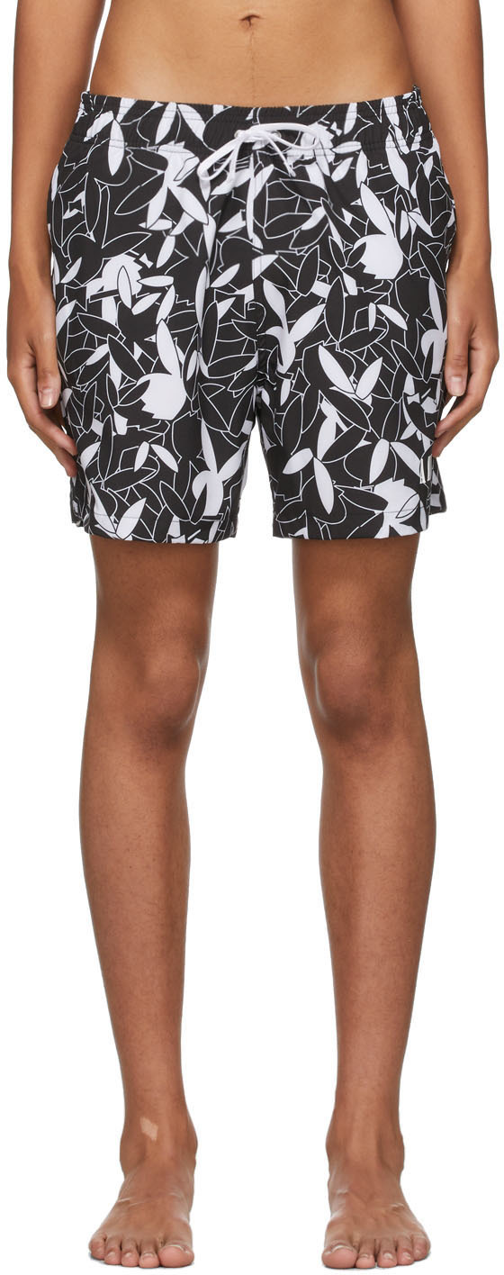 Black & White Playboy Edition All Over Swim Shorts