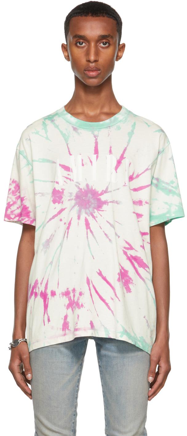 Purple & Green Tie-Dye Core Logo T-Shirt