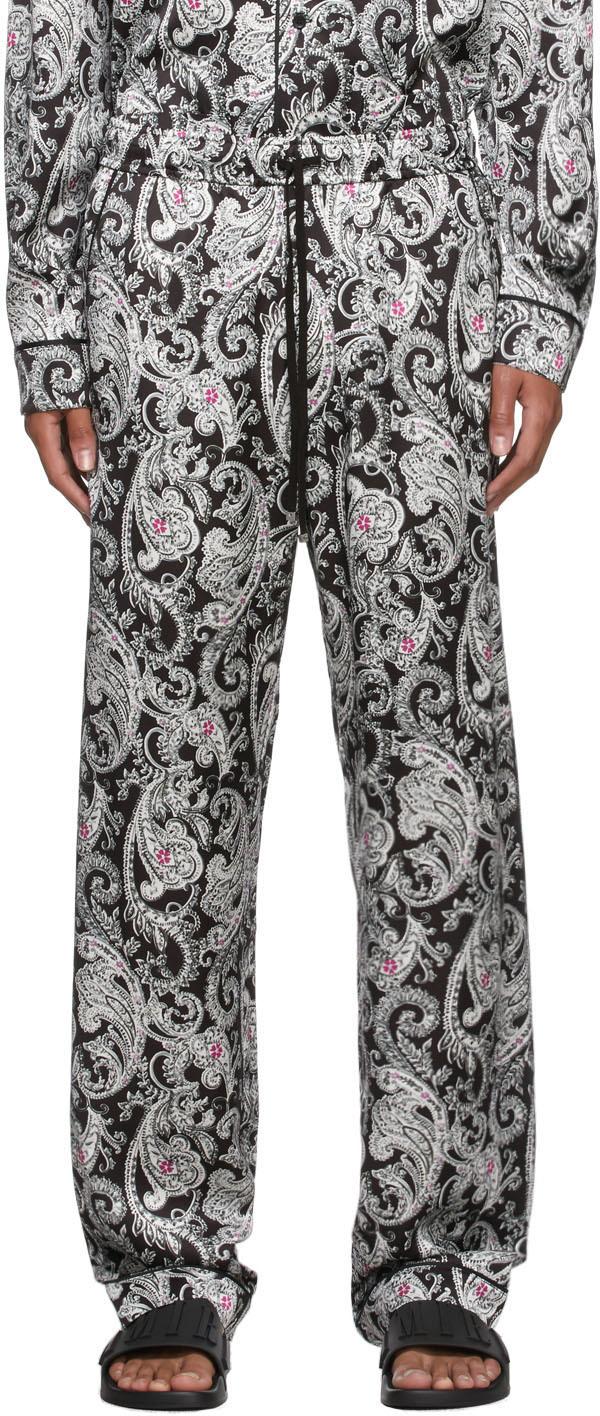 Black & White Paisley PJ Lounge Pants