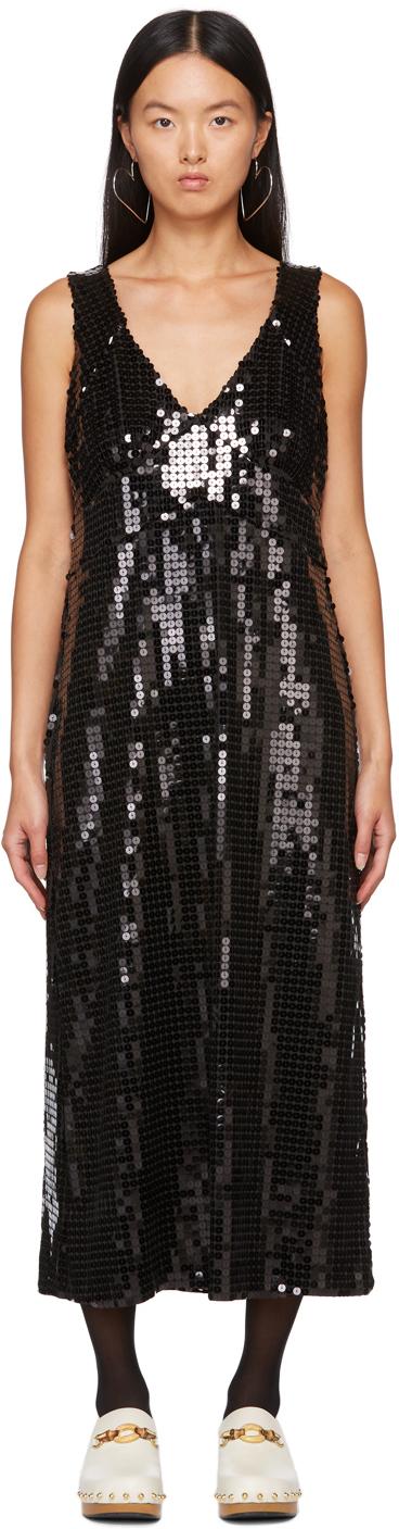 Black Sequin Midnight Dress