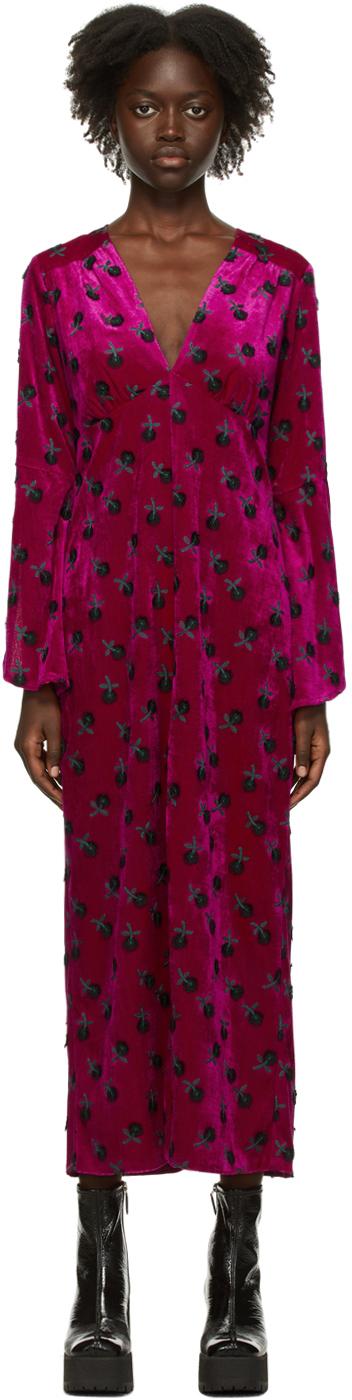 Purple Velvet Wonderwall Dress