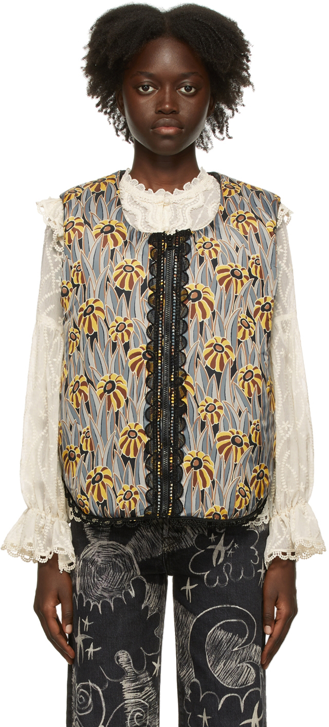 Multicolor Penny Lane Poppies Vest