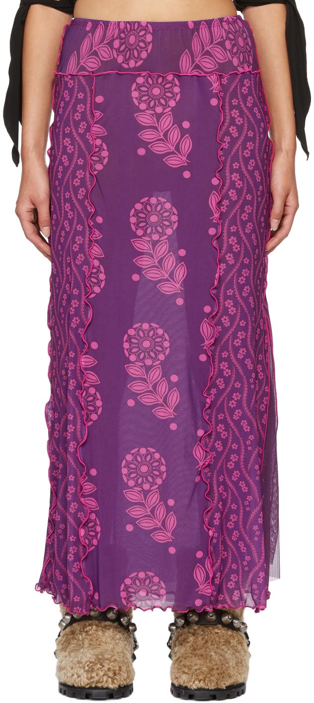 Purple Mesh Posies & Pop Flowers Skirt