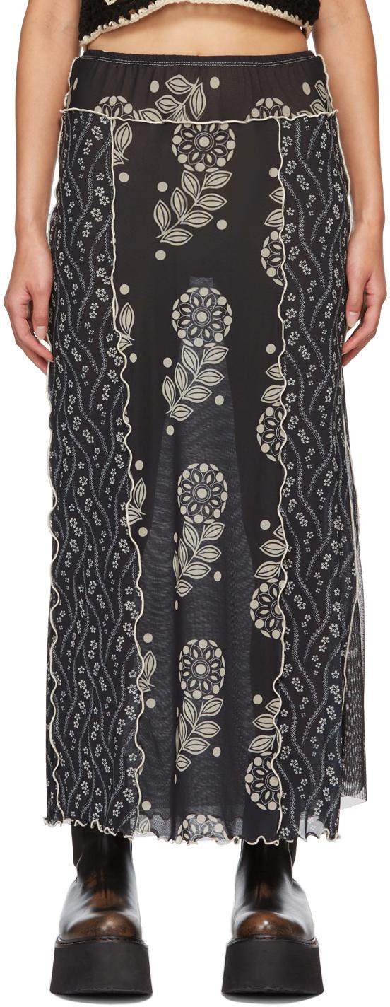 Black Mesh Posies & Pop Flowers Skirt