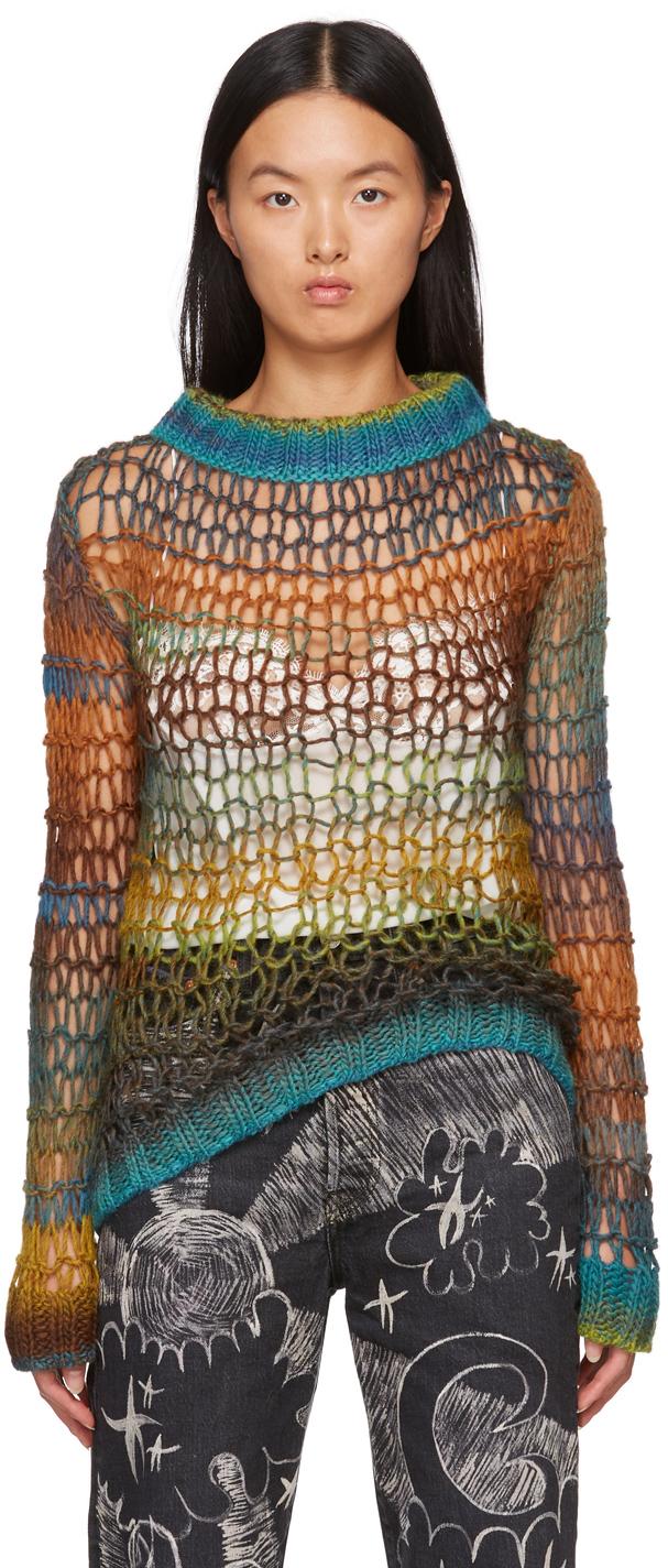 Green Sunset Spacedye Sweater