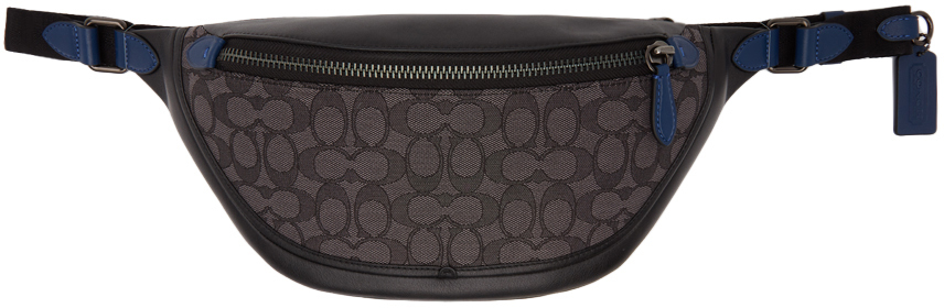 Grey & Black Signature Jacquard League Belt Bag