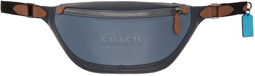 Blue Colorblock League Belt Bag