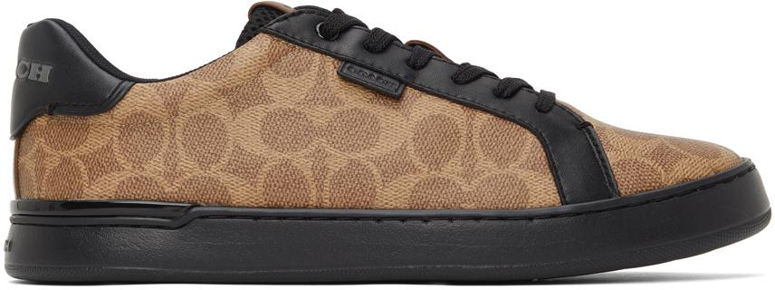 Tan & Black Lowline Sneakers