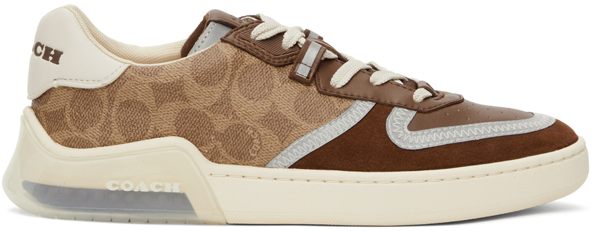Brown & Tan Citysole Signature Court Sneakers
