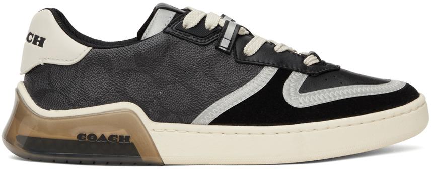 Black Citysole Signature Court Sneakers