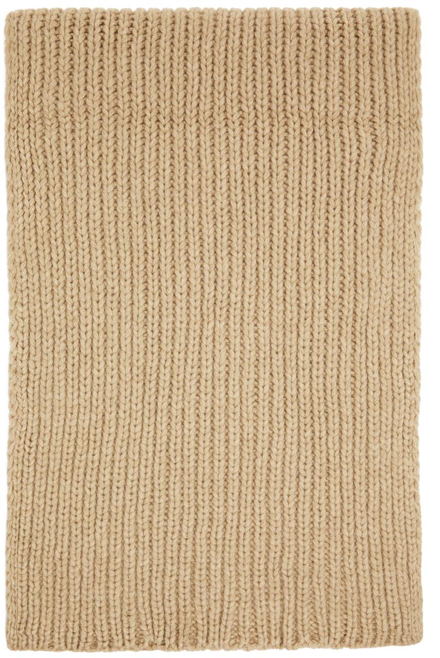 Beige Merino Wool Scarf