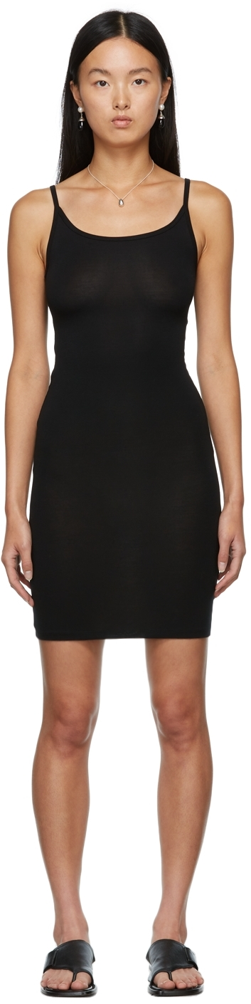 Black Bamboo Slip Dress