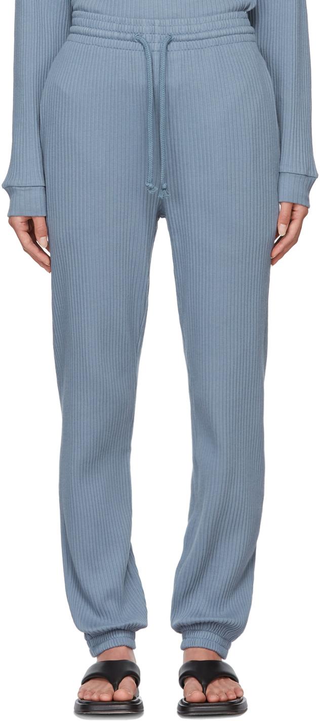 Blue Rib Lounge Pants