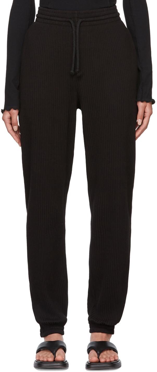 Black Rib Lounge Pants