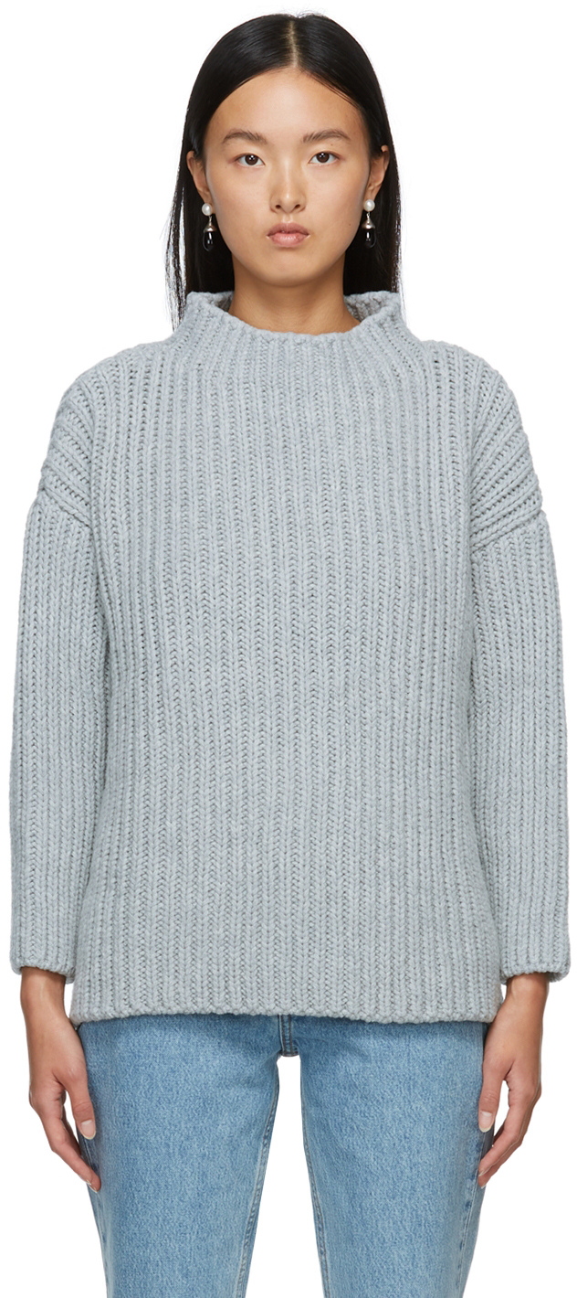 Grey Recycled Wool Mea Sweater