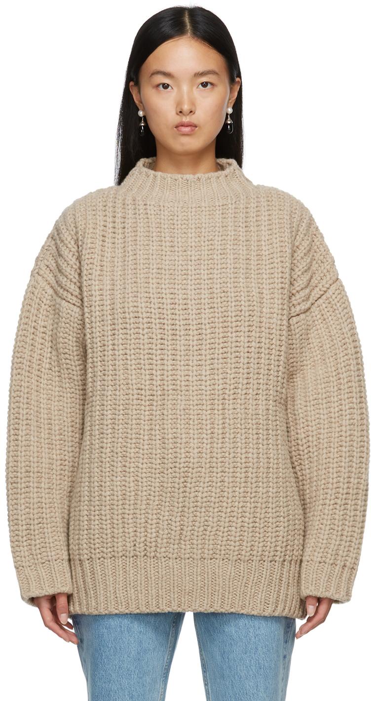 Beige Merino Wool Mea Sweater