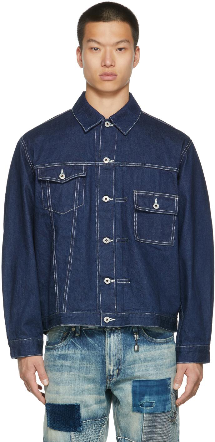 Indigo Denim Asymmetrical Jacket