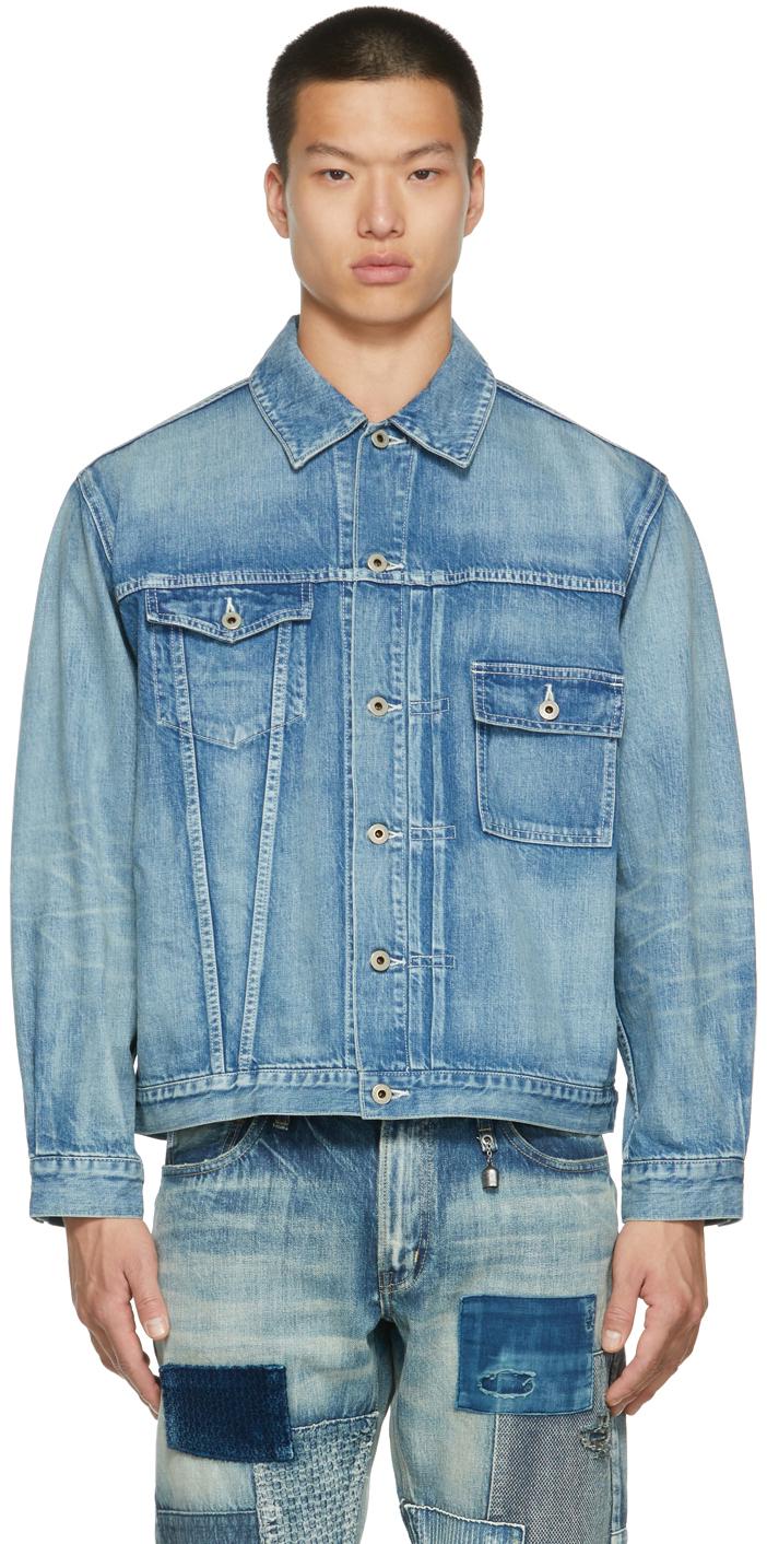 Blue Denim Asymmetrical Jacket