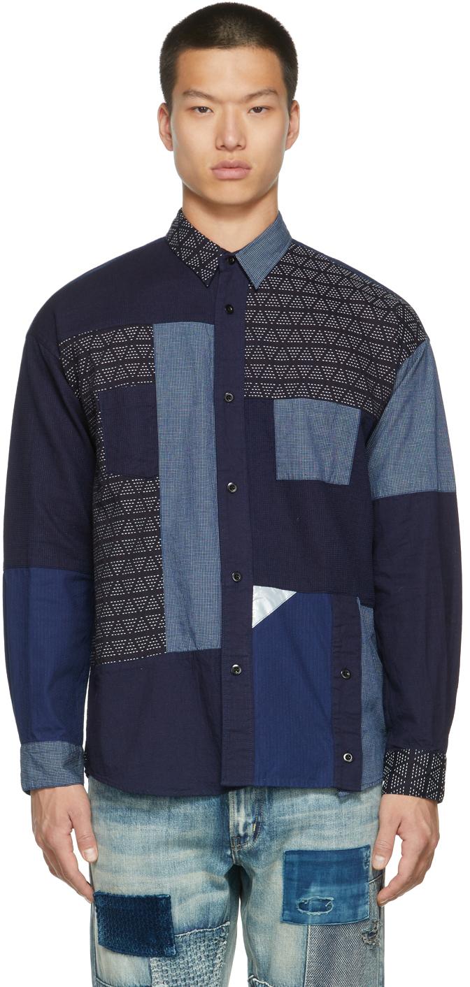 Indigo Boro Patchwork Shirt