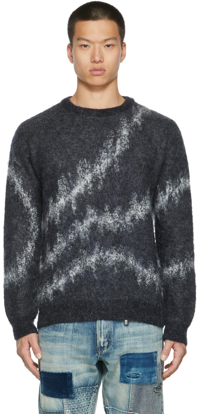 Navy Mohair Sweater