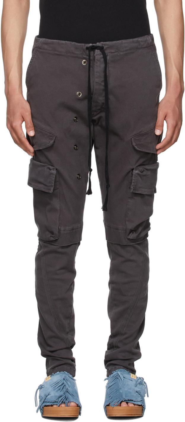 Black Slim Cargo Pants