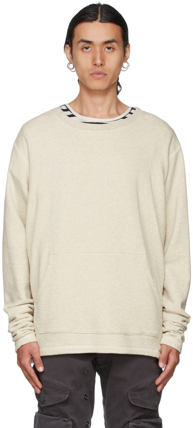 SSENSE Exclusive Off-White Hemp Sweatshirt
