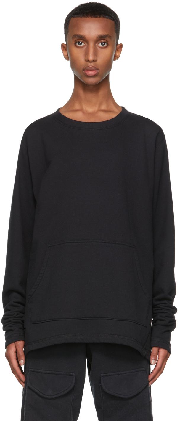 SSENSE Exclusive Black Hemp Sweatshirt