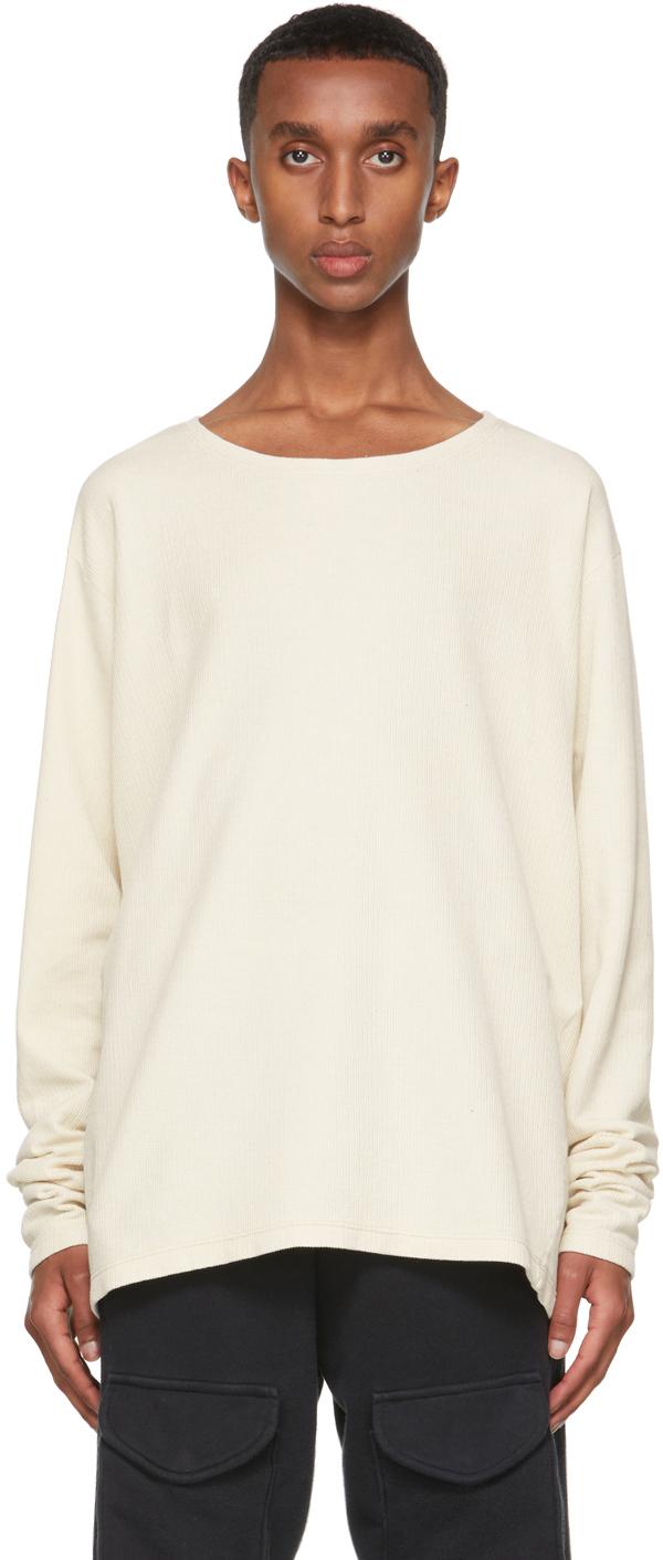 SSENSE Exclusive Off-White Flat Back Thermal Sweatshirt