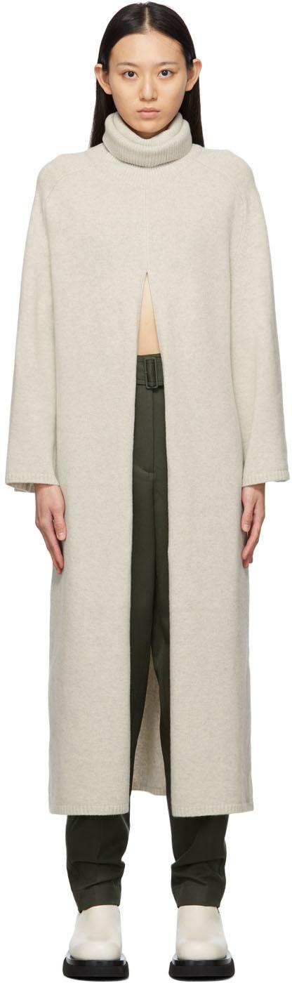 Beige Knit Viviane Dress