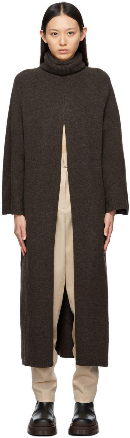 Brown Knit Viviane Dress