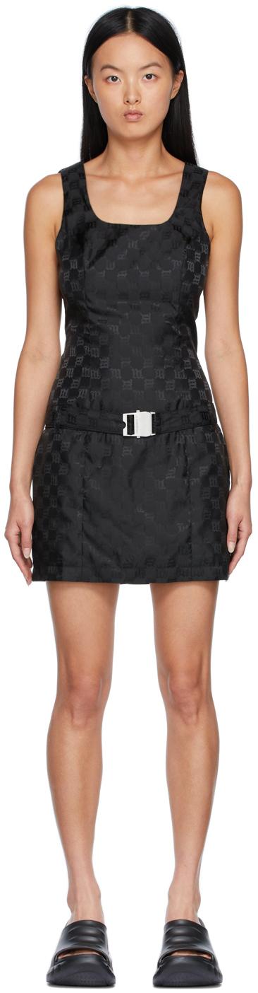 Black Jacquard Mini Dress