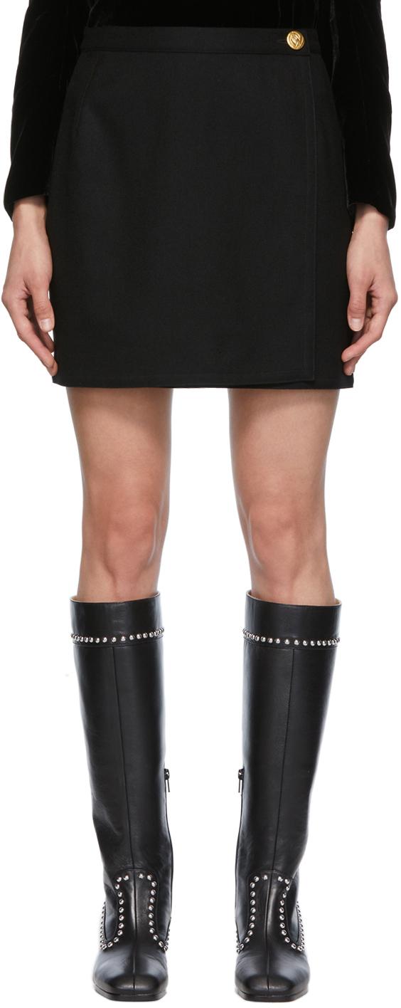 SSENSE Exclusive Black Wool Helen Miniskirt