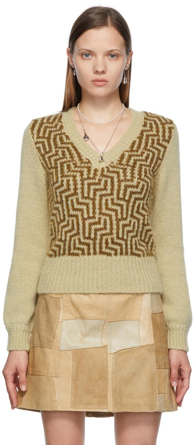 SSENSE Exclusive Green Mohair Natasha Sweater