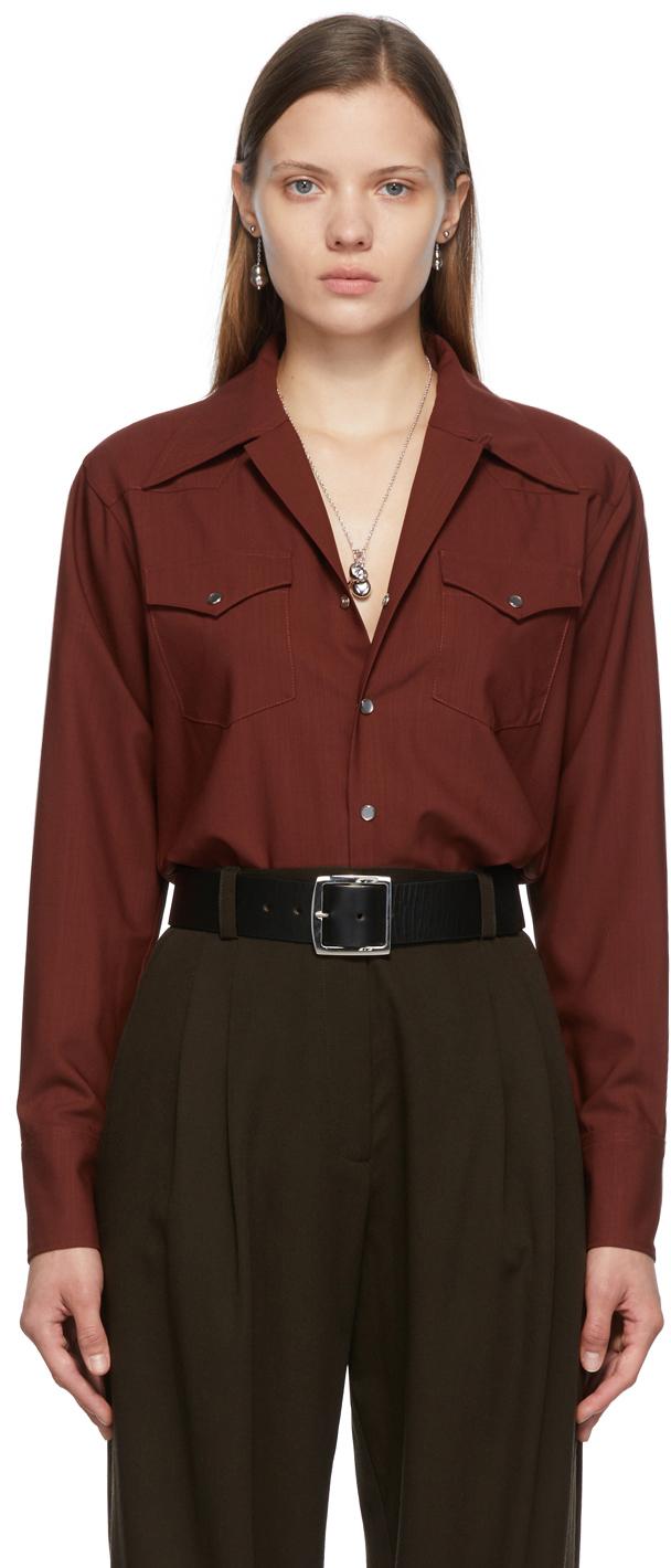 SSENSE Exclusive Burgundy Kaitlin Shirt