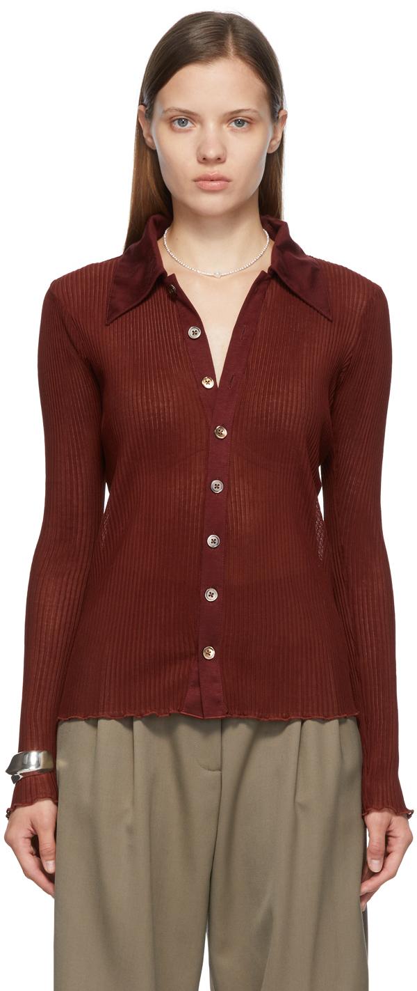 SSENSE Exclusive Burgundy Lena Shirt