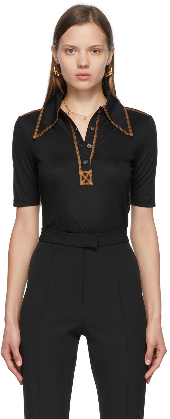 SSENSE Exclusive Black Jess Polo T-Shirt