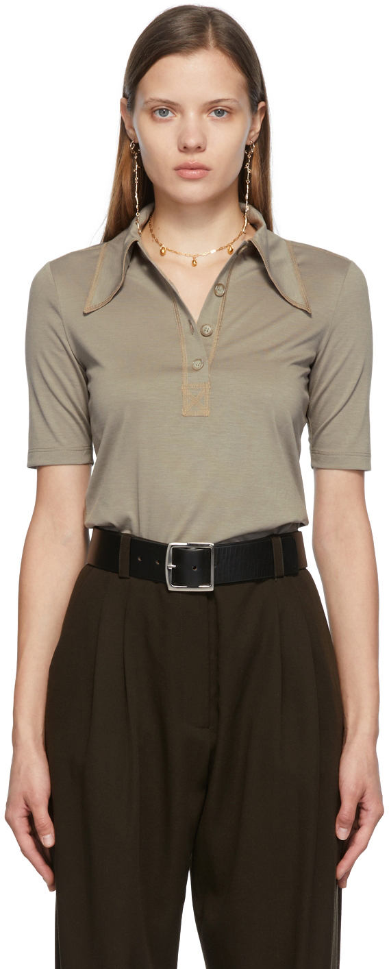 SSENSE Exclusive Khaki Jess Polo T-Shirt