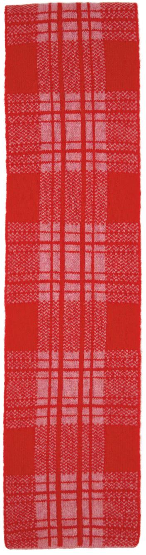 Pink & Red Wool Tartan Alfie Scarf