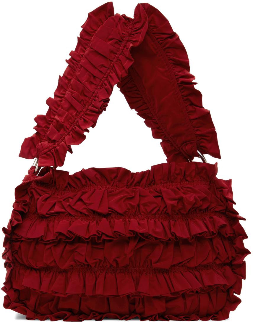 Red Frill Shoulder Bag