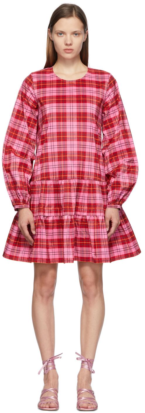 Pink Check Catrina Dress