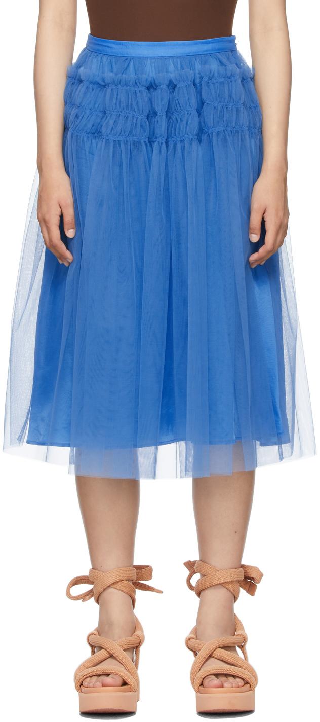 Blue Tulle Eryka Skirt