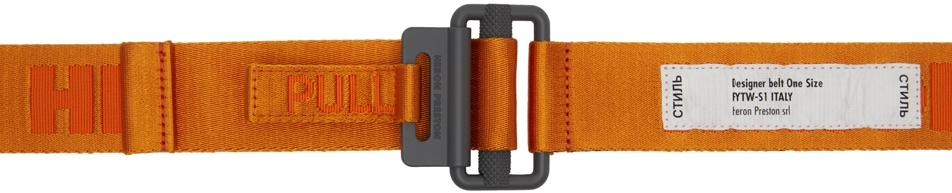 Orange 'Style' Tape Belt