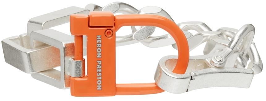 Silver & Orange New Multichain Bracelet