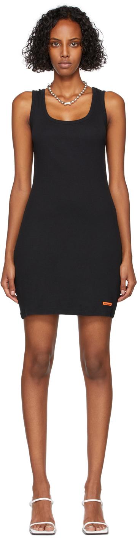 Black Rib Knit Tank Dress