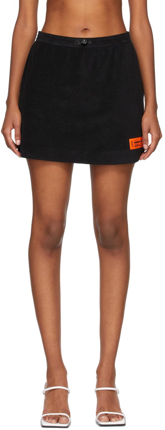 Black Terry Skirt