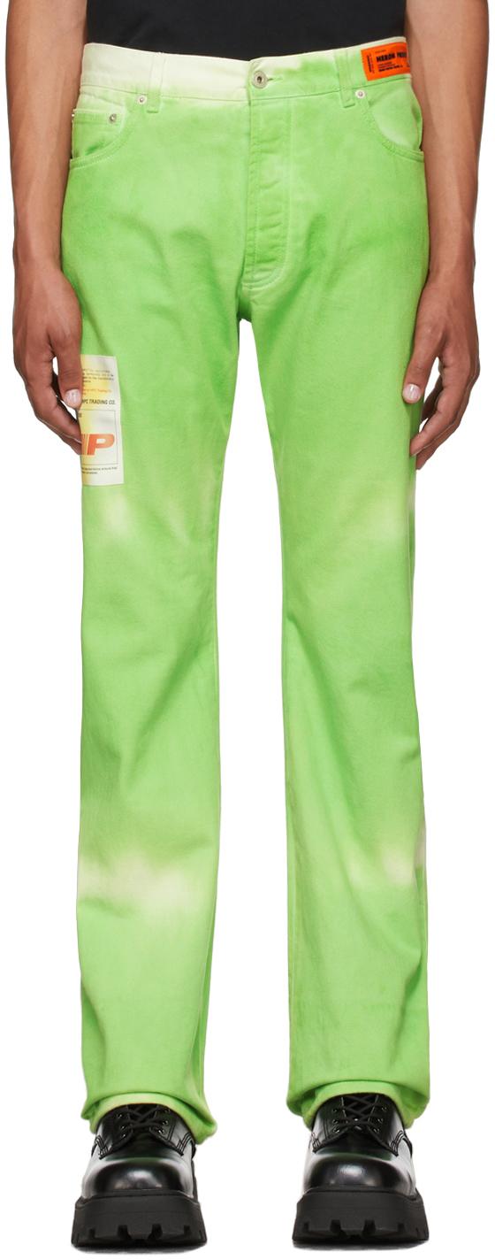 Green Tie-Dye Hammer Trousers