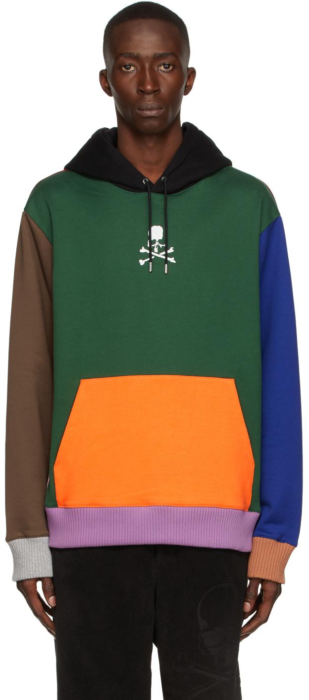 Multicolor Paneled Hoodie