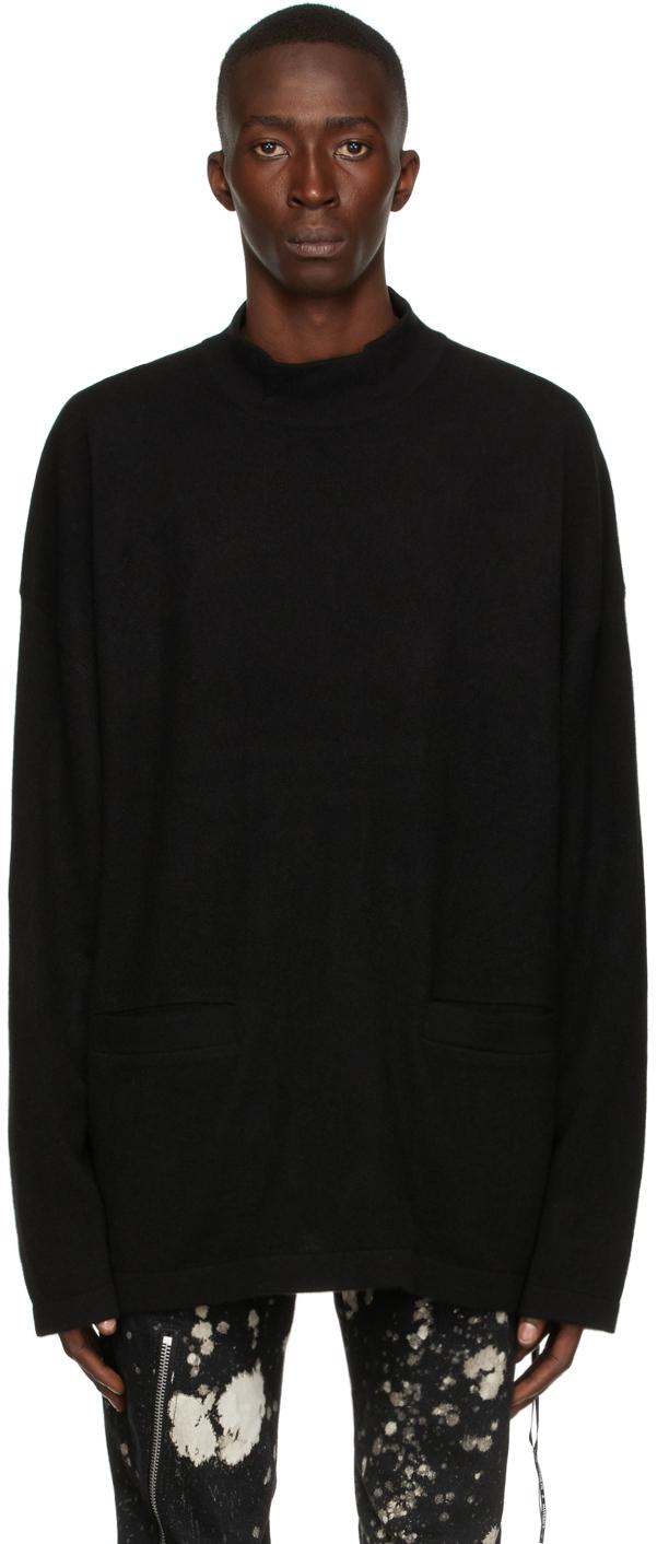 Black Baby Cashmere Hi Neck Sweater