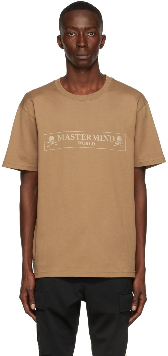 Beige Boxed Logo T-Shirt