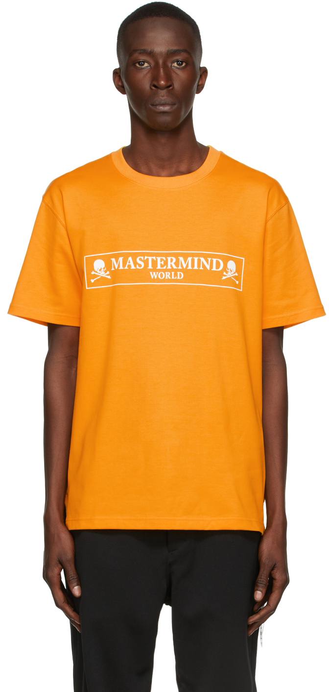 Yellow Boxed Logo T-Shirt